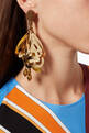 thumbnail of Gold Large Impatiens earrings #1