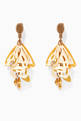thumbnail of Gold Large Impatiens earrings #0