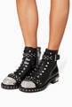thumbnail of Black Hobnail Metal Ankle Boots #1