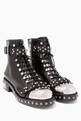 thumbnail of Black Hobnail Metal Ankle Boots #0