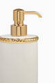 thumbnail of White & Gold Rope Lotion Dispenser #1