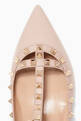 thumbnail of Poudre Double-Strap Rockstud Patent Ballerinas #3