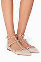 thumbnail of Poudre Double-Strap Rockstud Patent Ballerinas #1
