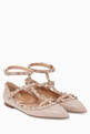 thumbnail of Poudre Double-Strap Rockstud Patent Ballerinas #0
