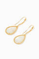 thumbnail of Yellow-Gold Serpent Bohème Sleeper Mother-Of-Pearl Earrings #2
