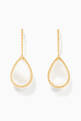 thumbnail of Yellow-Gold Serpent Bohème Sleeper Mother-Of-Pearl Earrings #0