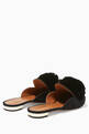 thumbnail of Black Powder-Puff Suede Slippers #2