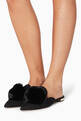 thumbnail of Black Powder-Puff Suede Slippers #1