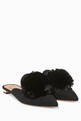 thumbnail of Black Powder-Puff Suede Slippers #0