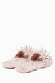 thumbnail of Light-Pink Eco Shearling Sandals #2