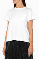 thumbnail of White Sacai Lace Back T-Shirt #0