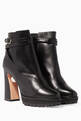 thumbnail of Black Anabelle Pearl Biker Leather Boots #0