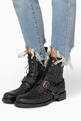 thumbnail of Black Rockstud Spike Combat Boots #1