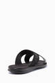 thumbnail of Black Cross-Over Logo Sandals   #2