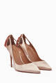 thumbnail of Powder Pink Satin Forever Marilyn Pumps #0