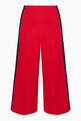 thumbnail of Red Stud Embellished Wide-Leg Pants #4