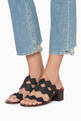 thumbnail of Black Scallop Lauren Palmer Mules #1