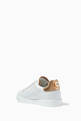 thumbnail of White & Gold Pearl-Detail Portofino Sneakers    #3