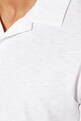 thumbnail of White Open-Collar Willem Polo Shirt  #3