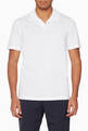 thumbnail of White Open-Collar Willem Polo Shirt  #0