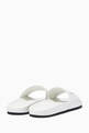 thumbnail of White Balenciaga Leather Slides   #2