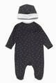 thumbnail of Navy Boys Romper & Hat Newborn Gift, Set Of 2 #1