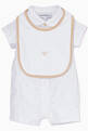 thumbnail of White & Beige Bodysuit & Bib, Set Of 2       #1