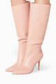 thumbnail of Dahlia-Pink Point-Toe Knee Boots       #1