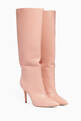 thumbnail of Dahlia-Pink Point-Toe Knee Boots       #0