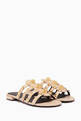 thumbnail of Beige Arena Giant Flat Sandals #0