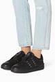 thumbnail of Valentino Garavani Black Rockstud Untitled Sneakers  #1