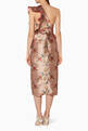 thumbnail of Rose-Gold Floral-Print La Divinidad Dress      #2