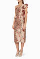 thumbnail of Rose-Gold Floral-Print La Divinidad Dress      #0
