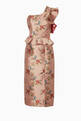 thumbnail of Rose-Gold Floral-Print La Divinidad Dress      #4