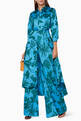 thumbnail of Blue & Green Printed Dasha Palazzo Pants    #1