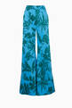 thumbnail of Blue & Green Printed Dasha Palazzo Pants    #4