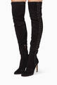 thumbnail of Black Marie Suede Over The Knee Boots #1
