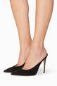 thumbnail of Black Suede Paige Suede Mules      #1