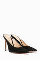 thumbnail of Black Suede Paige Suede Mules      #0