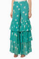 thumbnail of Teal Tiered Ruffle Pants     #0