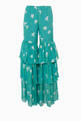 thumbnail of Teal Tiered Ruffle Pants     #4