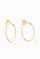 thumbnail of Gold Lara Hoop Earrings   #0