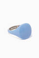 thumbnail of Light-Blue Ceramic Coated Pinky Ring   #0