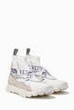 thumbnail of White Heroes Logo Strap Sneakers  #0