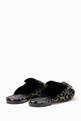 thumbnail of Black Metallic Leopard-Print Brooch Loafers  #2