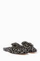 thumbnail of Black Metallic Leopard-Print Brooch Loafers  #0