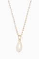 thumbnail of Yellow-Gold Rhinestone Pearl Necklace #0