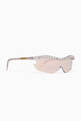 thumbnail of Iridescent-Clear Embellished Alcatraz 200 Sunglasses  #3
