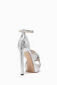 thumbnail of Silver Metallic Leather Abril Sandals #2