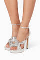 thumbnail of Silver Metallic Leather Abril Sandals #1